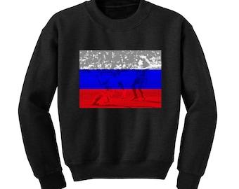 Russia World Cup 2018 Graphic Sweatshirt RUSSIA Flag Football Team Soccer