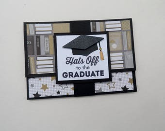 Graduation Money/Gift Card Holder -- Hats off to the Graduate -- High School Graduation -- Money/Gift Card for Graduation