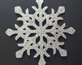 transfer snowflakes 5 cm deco customisation scrapbooking
