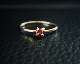 Ruby Ring, 14K Rose Gold Ring, Ruby Engagement Ring, Promise Ring, Ruby Jewelry, 14K Yellow Gold, Ruby Stone, July Birthstone