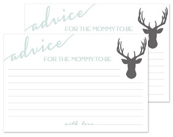 Baby Shower Advice Card For the Mommy To Be