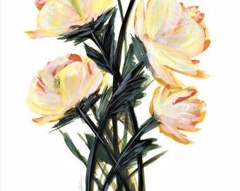 """5x7"""" Print of Organe Flowers"""