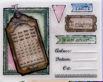 Clear Stempels - clear stamps-transparent stempels (party & agenda)duits CS0037