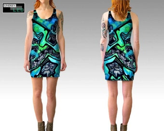 Pen vs. Watercolor Fitted Dress