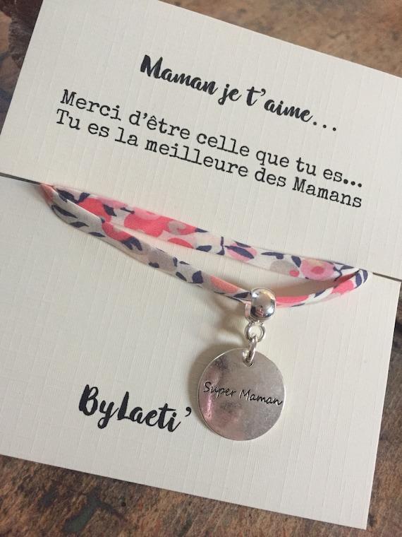 "Liberty bracelet ""MOM I love you"""