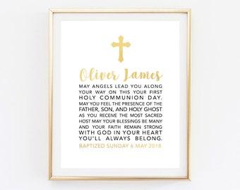 Baby Baptism sign, Custom Baptism sign, Baptism welcome sign, Baptism printable, Celebration sign, Personalized baptism printable