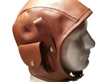 Leather Aviator Cap
