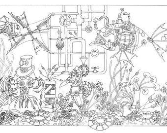 Colouring Sheet - Undersea Steam