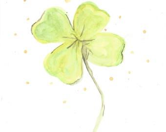 4 leaf clover minimalist print