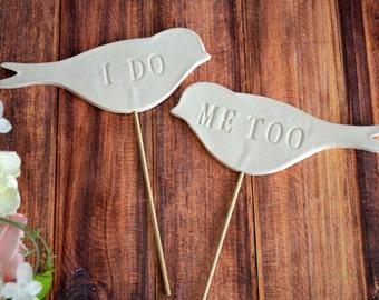 I Do Me Too Birds - Wedding Cake Toppers