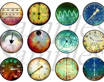 Steampunk Gauges Meters Magnets Pins Party Favors Wedding Favors Pin or Magnet Gift Sets Fridge Refrigerator Magnets