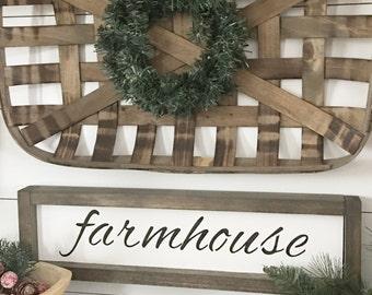 Mini Framed Farmhouse Sign