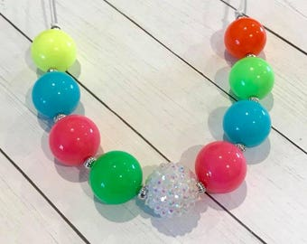 Bright Colors Chunky Bubblegum Necklace