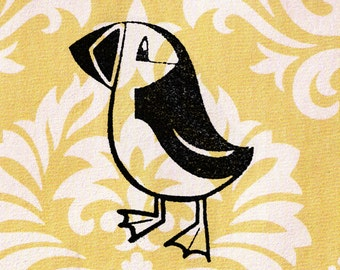 Bird Stamp, Puffin Stamp - Wood Mounted Rubber Stamp