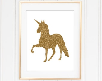 Instant Download Nursery Print Unicorn Print Unicorn Printable Unicorn Art Print Kids Room Decor Nursery Printable Gold Decor Gold Unicorn