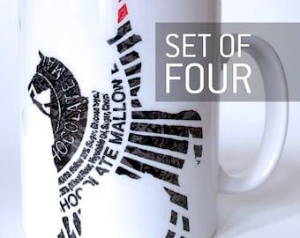 Chocolate Cone. Set of four Mugs.