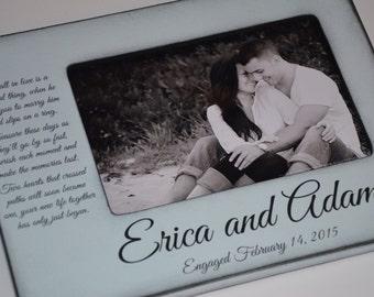 Engagement, Engagement Gift, Engagement Personalized Frame, Personalized Engagement Frame