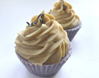 Lavender Honey Cupcake Soap• Cold Process, Handmade, Soap Favors, Gift for her, Favors, Bridesmaids Gifts, Valentines Day gift