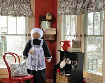 Vacuum Cleaner Cover - Soft Sculptured Grandma - Maid/Nanny Black and White