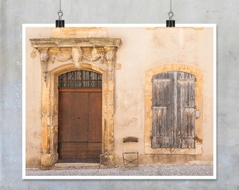 Door and Window art - Provence Arles France Europe Fine Art Photograph shutters old house shabby chic travel photography home decor print
