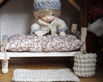 bedding quilt 1/12 scale miniature