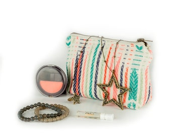 Smart Chic Wallet-Multicoloured, wallet, purse, clutch, coin purse, stationery pouch, zipper pouch, stocking filler, glasses case, handloom