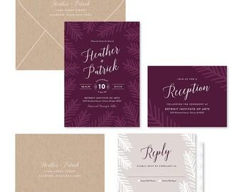 Wedding Invitation Suite Sample - Pinewood