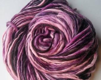 Thick and Thin - Handspun Yarn - Merino Bamboo Nylon- Thick and Thin Yarn - Chunky Yarn - Bulky Yarn - Ready to Ship