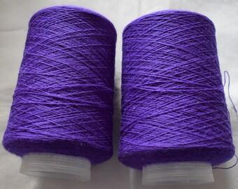 2X200G 2/18NM 100% Wool Yarn Purple 400g Knitting Wool