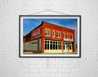 Painted Brick Buildings, Urban Art, Modern Art, Architecture Photogrpahy, Art Photo, City Scenes, Historic Knoxville, Color Photography