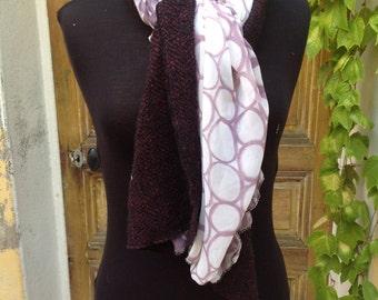 wool and silk autumn shawl