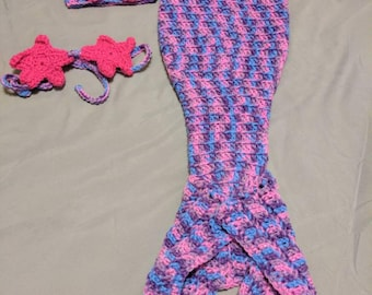 Mermaid Crochet outfit. Newborn Size
