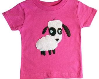 mi cielo x Matthew Langille - Sheep – Raspberry Kids T-Shirt – Boys or Girls