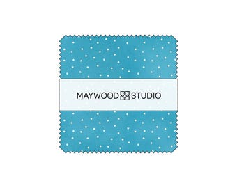 Charm Pack - Scatter Dots by Maywood Studio (MAS8119) Precut Squares Cotton Fabric