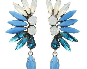 "Tova ""Ahyoka"" swarovski crystal mohalk earrings"
