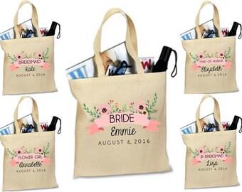 BRIDESMAID TOTE. bridal party gift. custom bag. personalized tote. bridesmaid. maid of honor. matron of honor. tote. bag.