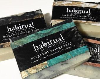 ORGANIC ACTIVATED CHARCOAL Bar Soap - Bentonite Clay Soap - Handmade Bar Soap 100% Natural / Made in Brooklyn - Cold Processed Organic Soap