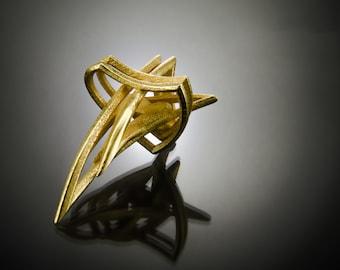 Hidden Heart Pendant / Handmade Spike Pendant