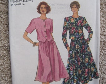 UNCUT Misses / Miss Petite Pull-on Flared Skirt and Top - Size 8, 10, 12, 14, 16, 18 - Simplicity Pattern 8585