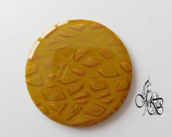Round cabochon flat 40 mm resin #25 polymer clay