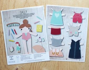 Sally printed paper doll