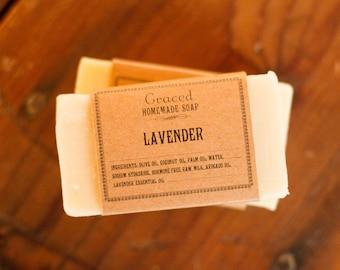 Handcrafted Natural Lavender Bar Soap