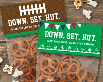 Football Gift Bag Topper Printable - Football Birthday Party