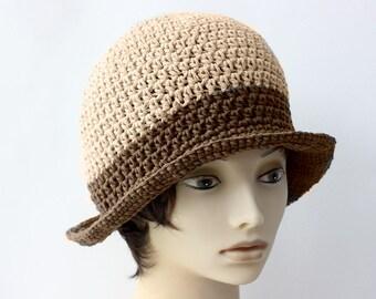 Cotton Summer Sun Hat, Custom - Choose Color,  Wide Brimmed Hat