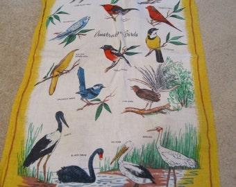 Vintage Decorative Tea Towel LINEN  by heil Australia