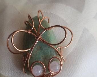 Amazonite/ rose quartz #2