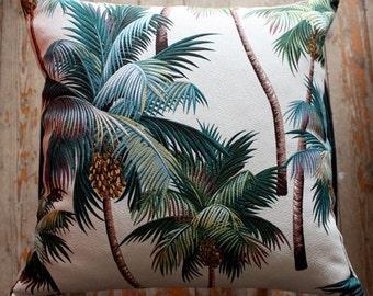 palm tree tropical cushion cover 45cm