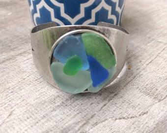 Hawaiian Sea Glass Cuff Bracelet