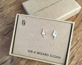 Personalised 'Yer a wizard' Harry Potter Inspired Studs
