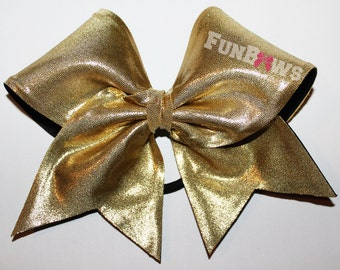 Awesome Solid Gold Budget Cheer Bow - Sale price - by FunBows !!